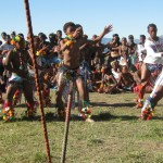 Iintombi of KwaBhaca Kingdom at Umkhosi wokukhahlela 2012 - Bhaca girls dance