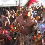 Iintombi of KwaBhaca Kingdom at Umkhosi wokukhahlela 2012 - Inkosi Madzikane II