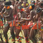 Iintombi of KwaBhaca Kingdom at Umkhosi wokukhahlela 2012 - amakhosatana