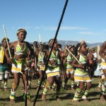 Iintombi of KwaBhaca Kingdom at Umkhosi wokukhahlela 2012 - girls dancing