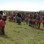 Iintombi of KwaBhaca Kingdom at Umkhosi wokukhahlela 2012  - iintfombi